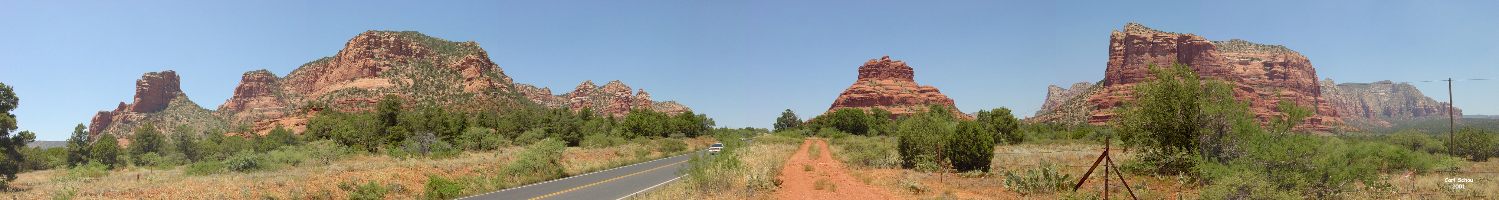 Bell Rock Panorama, 4954 by 662 pixels